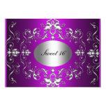 Purple Sweet 16 Elegant Birthday Invitation