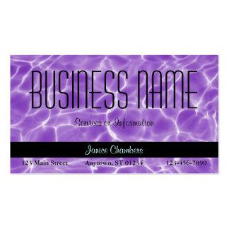 Purple Swimming Pool Pattern Business Card