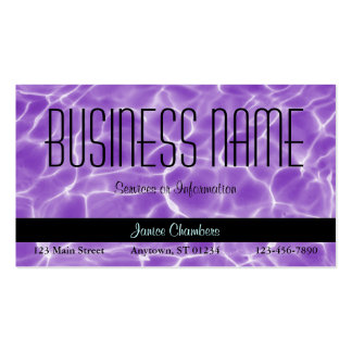 Purple Swimming Pool Pattern Pack Of Standard Business Cards