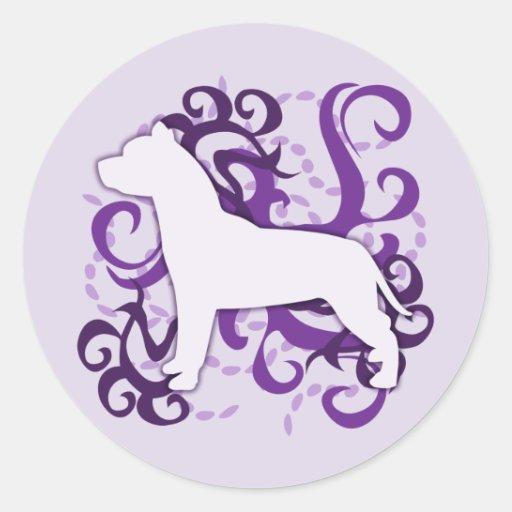 Purple Swirl American Pit Bull Terrier Sticker