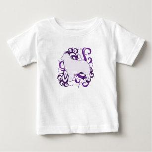 Purple Swirl Australian Shepherd Baby T-Shirt
