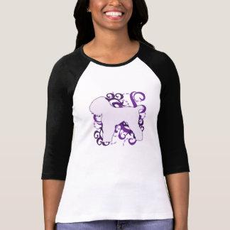 Purple Swirl Black Russian Terrier T-Shirt