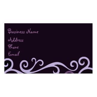 Purple Swirl Business Card