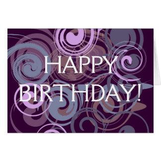 Purple Swirl Card