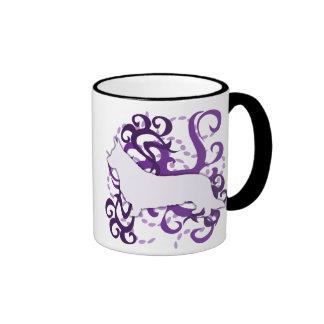 Purple Swirl Cardigan Welsh Corgi Mug