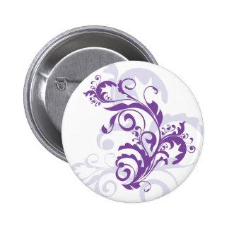 Purple swirl floral design buttons