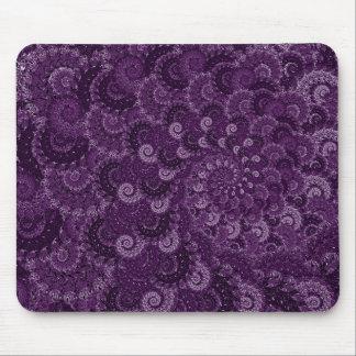 Purple Swirl Fractal Pattern Mouse Pad