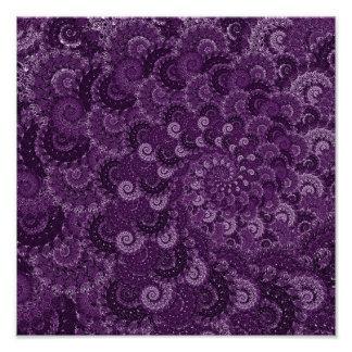Purple Swirl Fractal Pattern Photo