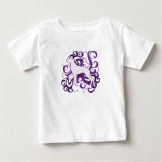 Purple Swirl German Shorthaired Pointer Baby T-Shirt