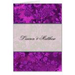 Purple swirl greeting card