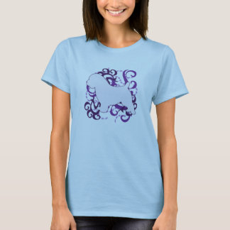 Purple Swirl Norfolk Terrier T-Shirt