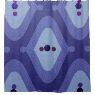 purple Swirl Shower Curtain