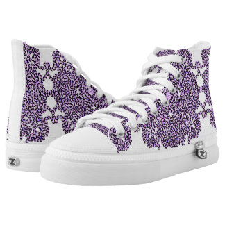 Purple Swirl Tech Printed Shoes