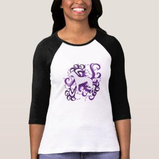 Purple Swirl Whippet Tee Shirts
