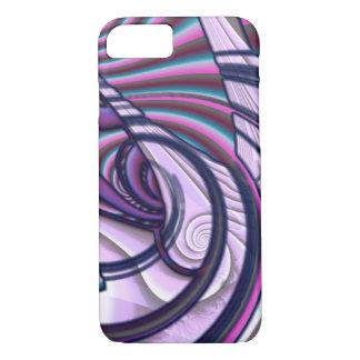 Purple Swirling iPhone 8/7 Case