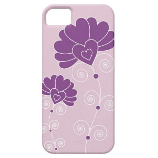 Purple Swirls And Floral Pattern - Lavender iPhone 5 Cases