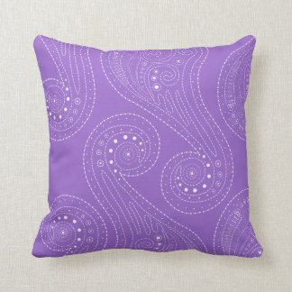 Purple Swirls Cushion