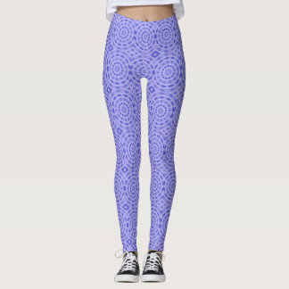 Purple Swirls Princess Leggings