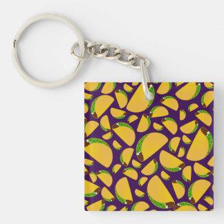 Purple tacos acrylic keychain