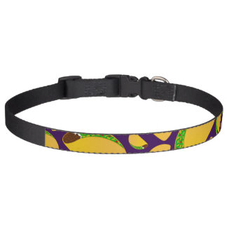 Purple tacos pet collars