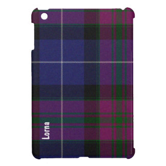 Purple Tartan Plaid Custom iPad Mini Case