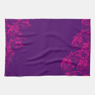 purple tea towel