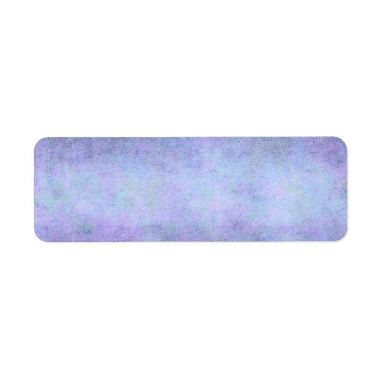 Purple, Teal Blue, Aqua, and Violet Watercolor Return Address Label