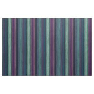 Purple Teal Blue Green Watercolor Stripes Pattern Fabric