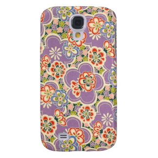 Purple, Teal, Blue, Red, Green & White Flowers Galaxy S4 Cover
