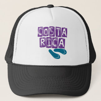 Purple & Teal Costa Rica Flip Flop Trucker Hat
