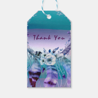 Purple & Teal Dream Catcher Boho Chic Party Favor Gift Tags