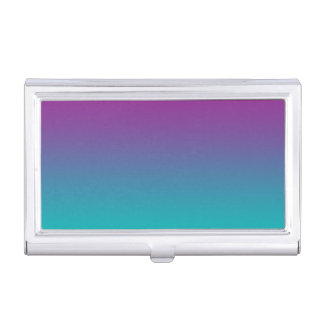 Purple & Teal Ombre Business Card Holder