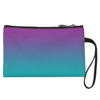 Purple & Teal Ombre Wristlet