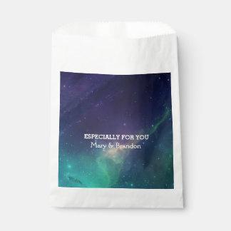 Purple & Teal Universe Nebula Wedding Favour Bags