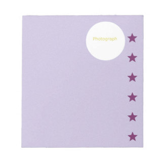 Purple Template with Stars Notepads