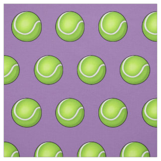 Purple Tennis Ball Fabric