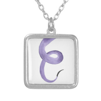 Purple Tentacle Silver Plated Necklace