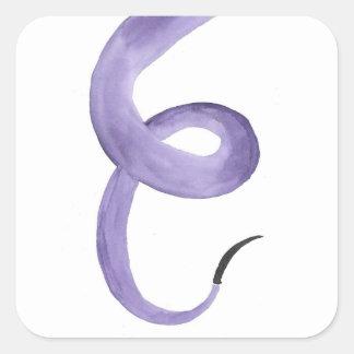 Purple Tentacle Square Sticker