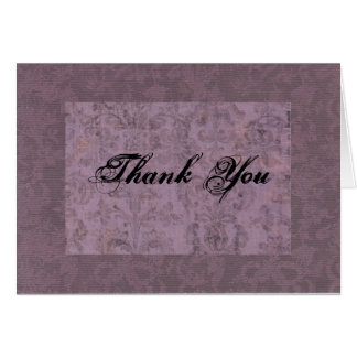 Purple Thank You Greeting Card