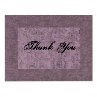 Purple Thank You Postcard