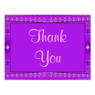 purple Thank You Postcard