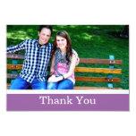 Purple Thank You Wedding Flat Cards Custom Invitation