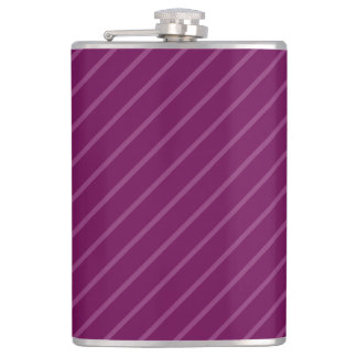 Purple Thin Light Stripes 8 oz Vinyl Wrapped Flask