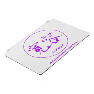 Purple thin round circle • Patience kanji iPad Pro Cover