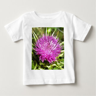 Purple Thistle Wildflower Baby T-Shirt