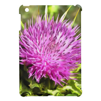 Purple Thistle Wildflower Cover For The iPad Mini