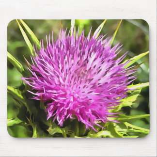 Purple Thistle Wildflower Mouse Pad