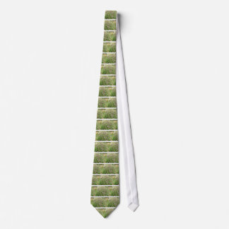 Purple thistles in English countryside Tie