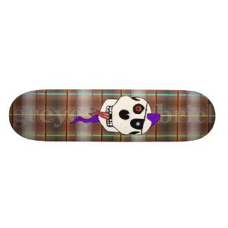 Purple Thrash Mohawk by greyeyesgabriel Skateboard Deck