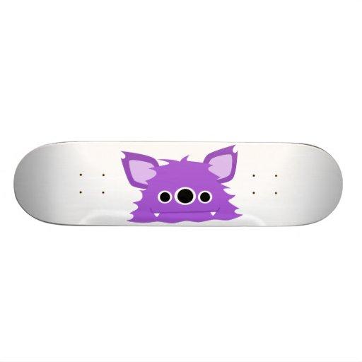 Purple Three Eyed Monster Skateboard